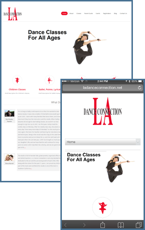 website-design-agency-los-angeles-global-it-la-dance-connection