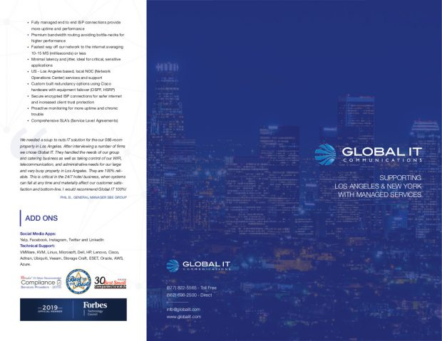 Global IT Brochure Los Angeles New York